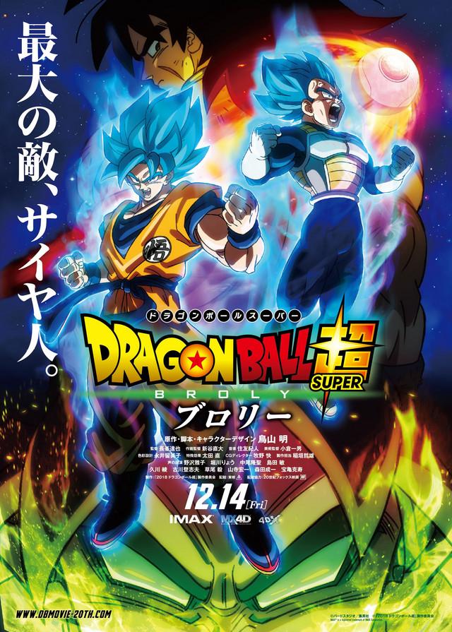 Dragon Ball Super: Broly será la próxima película de la saga